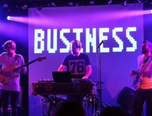 Band with projections at the Brudenell Social Club for debut album launch